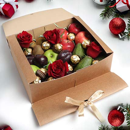 Fruits and Chocolates Gift Box: Christmas Gift Ideas for Kids