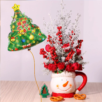 Christmas Tree Balloon and Floral Combos: