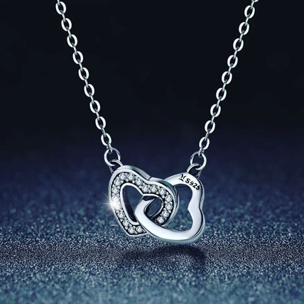 Connected Heart Necklace: Artificial Jewellery