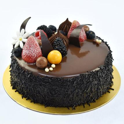 4 Portion Fudge Cake: Happy Birthday Cakes