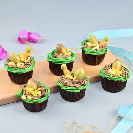 Easter Special Chocolate Cup Cakes: Easter Egg Cake