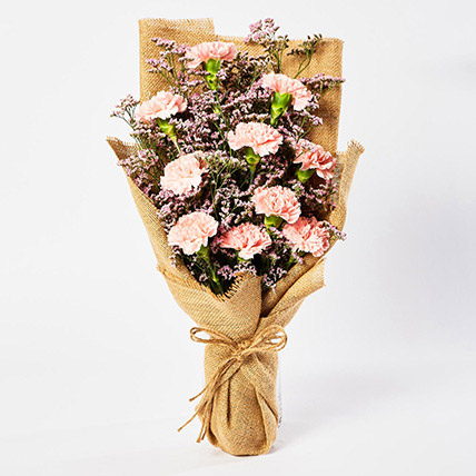 Lovely Pink Carnations Bouquet: Best Mother's Day Gifts