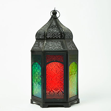 Happy Ramadan Iron Moroccan Lantern: Ramadan Home Décor Items