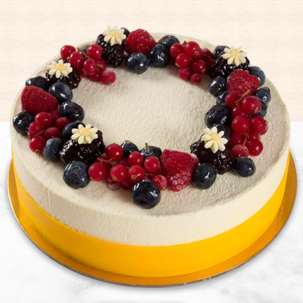 Yummy Vanilla Berry Delight Cake:  Eggless Cake Delivery