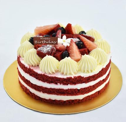 Half Kg Red Velvet Cake For Birthday: Birthday Cakes