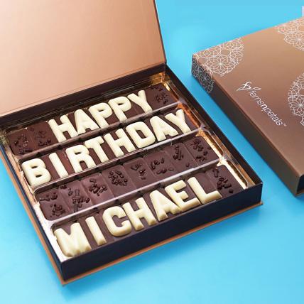 Customized Birthday Chocolate: Birthday Gifts for Him