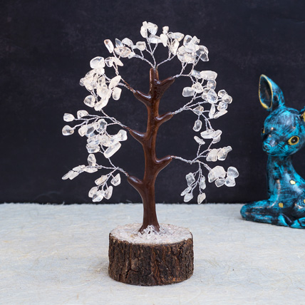White Agate Stone Handcrafted Wish Tree: Unique Gifts
