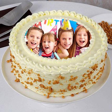 Butterscotch Birthday Photo Cake 500gm: Birthday Photo Cakes