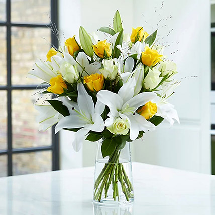 Lilies and Yellow Roses: Lilies Bouquet