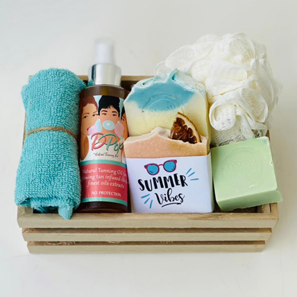 The Summer Vibes Gift Basket For Her: Personal Care Products