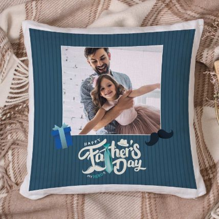 Good Times With Dad Personalised Cushion: Personalised Gifts for Father