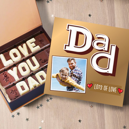 Love You Dad Personalised Chocolate Box: Personalised Gifts for Father