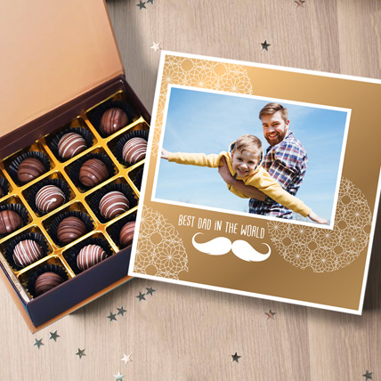 Personalised Chocolated Box For Dad:  Personalised Chocolates