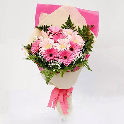 Beautiful Pink Gerbera Bouquet: Gerberas Bouquet