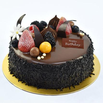 Half Kg Fudge Cake For Birthday: Birthday Cakes