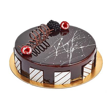 Chocolate Truffle Birthday Cake:  Eggless Cake Delivery