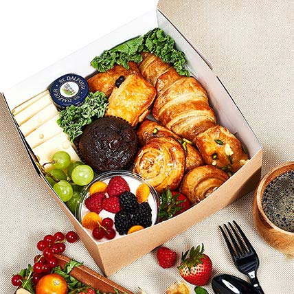 Breakfast Feast Box: Bakery and Snacks