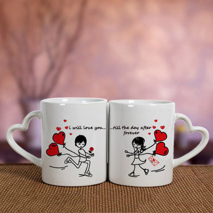 White Love Mugs: Propose Day Gifts
