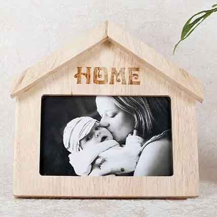 Wooden Home Shaped Frame: Personalised Gifts to Ajman
