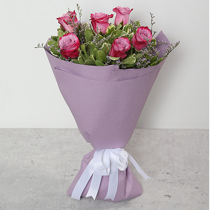 Bouquet Of Purple Roses QT: Send Gifts to Qatar