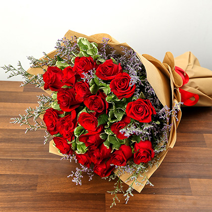 Bouquet Of 20 Red Roses QT: Send Flowers to Qatar