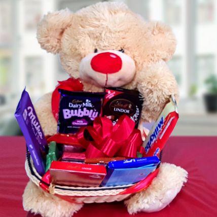 Teddy The Chocolate Man Hamper: