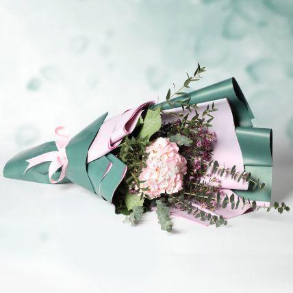 Pink Hydrangea Bouquet: Send Gifts to Qatar