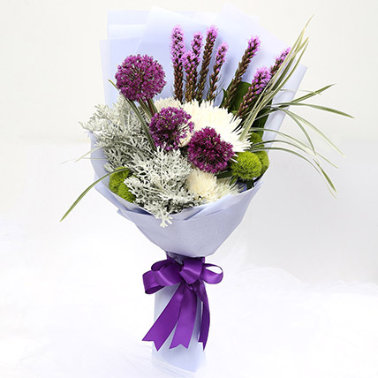 Enchanting Delistar and Liatris Mixed Bouquet SG: Gift Delivery Singapore