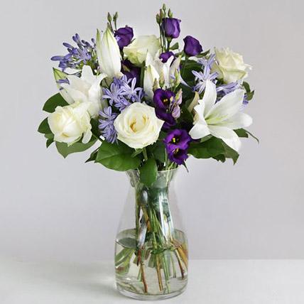 Beautiful Blue Floral Arrangement: Flowers to UK