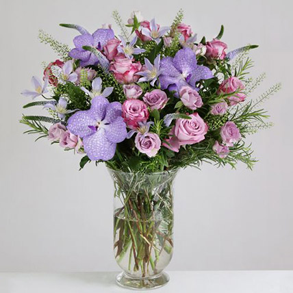 Willd Lilac Vase Arrangement:  Gifts UK