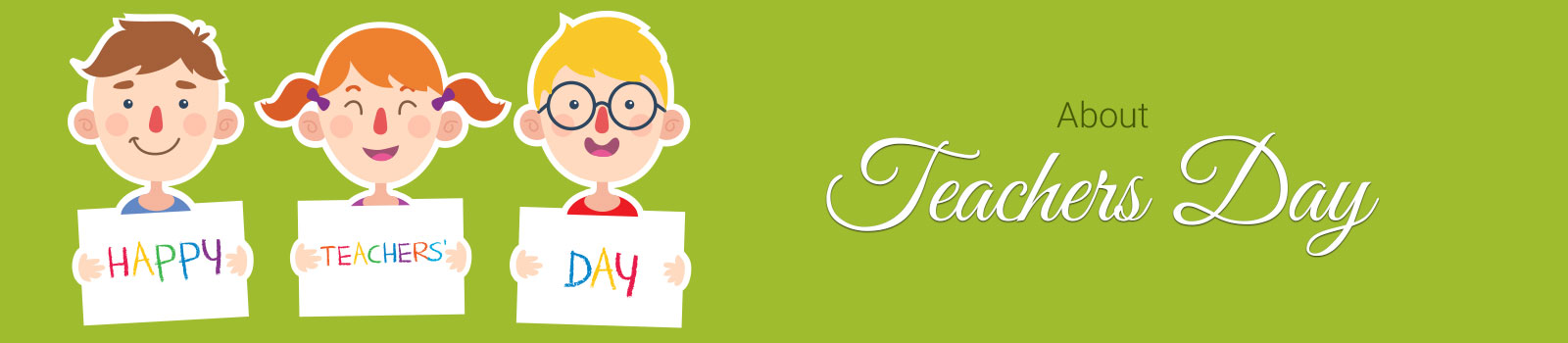 About Teachers Day Banner