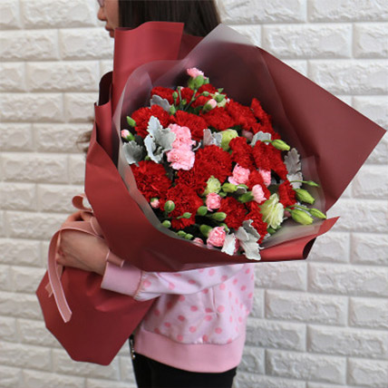 Best Wishes Carnations Bouquet