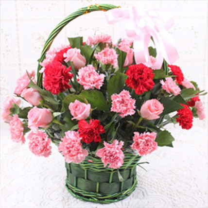 Carnations Love Basket