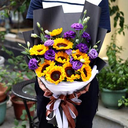 Sunflowers and Eustomas