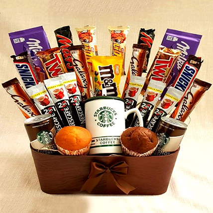 Coffee and Cupcakes Chocolaty Basket