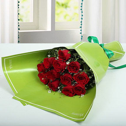 1 Dozen Red Roses Happy Bunch