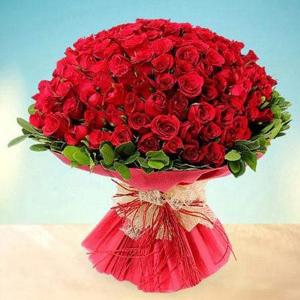 100 Red Roses Bouquet
