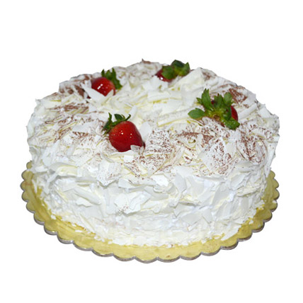 4 Portion Tempting White Forest Cake