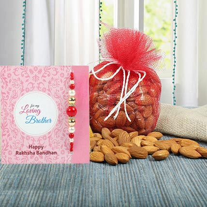 Almonds N Blue Zardosi Rakhi