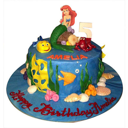Ariel Mermaid Princess Cake