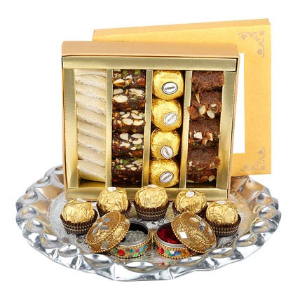 Bhai Dooj Thali with Sweets
