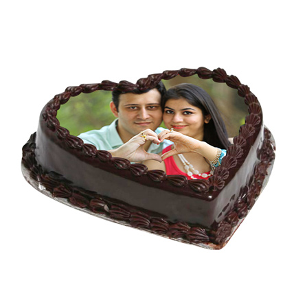 Cake From The Heart 1 Kg Black Forest Cake