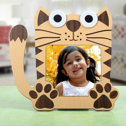 Cat Shaped Personalized Frame