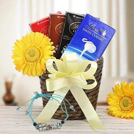 Choco Hamper with Friendship Band