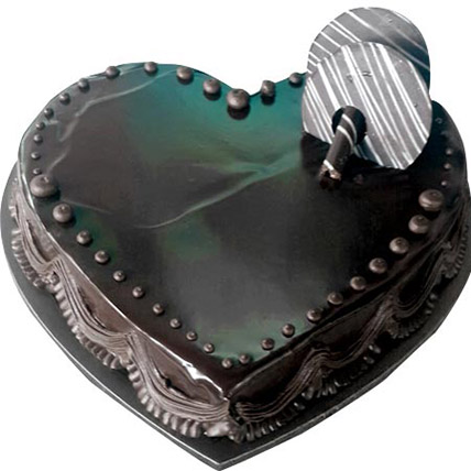 Chocolate Truffle Heartshape cake 8 Portion