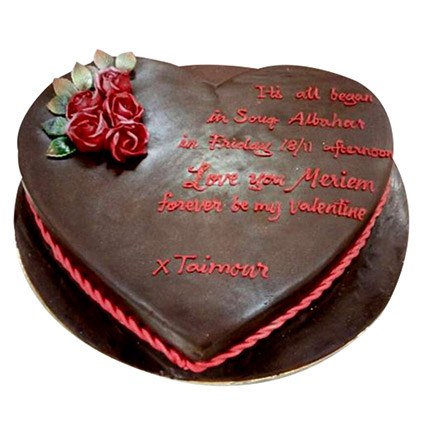 Chocolaty Heart Cake