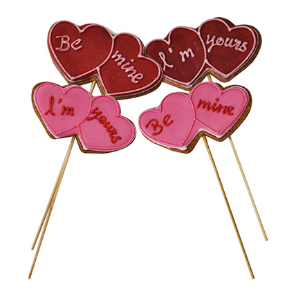 Cookies Heart On Stick