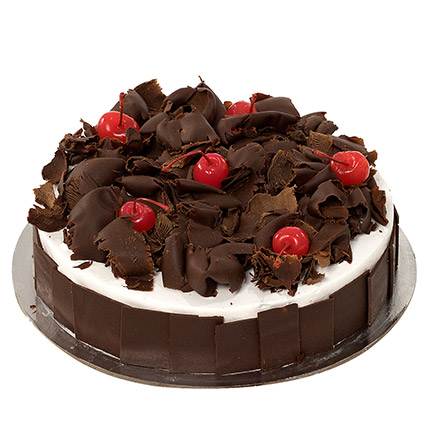 Delectable Black Forest Cake Eggless 1 Kg