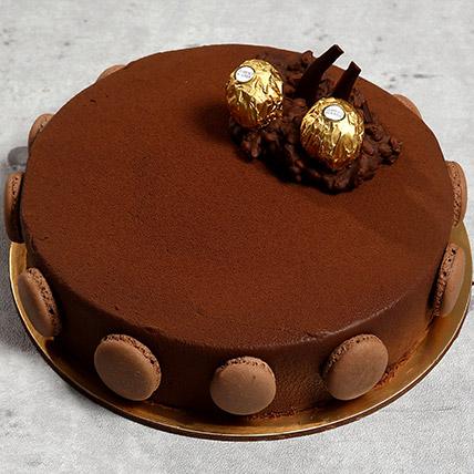 Eggless Ferrero Rocher Cake
