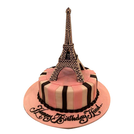 Eiffel Tower Fashion Cake